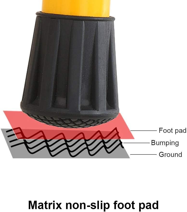 stabile Struktur aus Kohlenstoffstahl 4-stufige klappbare Sicherheitsleiter mit seitlichen Handl/äufen und rutschfester breiter Plattform Klapptritt