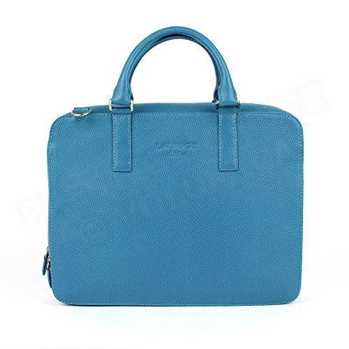 Serviette PC Cuir Bleu turquoise Beaubourg