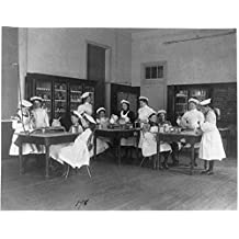 1899 Photo Classroom scene in Washington, D.C. elementary school - cooking class Location: Washington D.C.