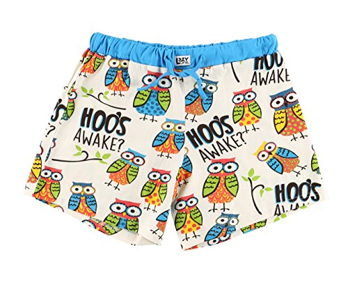 - I'm Owl Yours Women's Pajama Boxer Bottom by LazyOne | Soft Ladies Animal Sleepwear (X-Large)