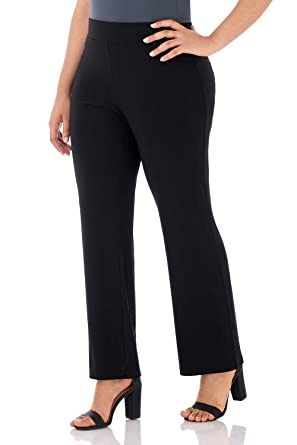 b7452064ded Rekucci Travel in Style - Curvy Woman Classic Straight Leg Plus Size Pant  (1X