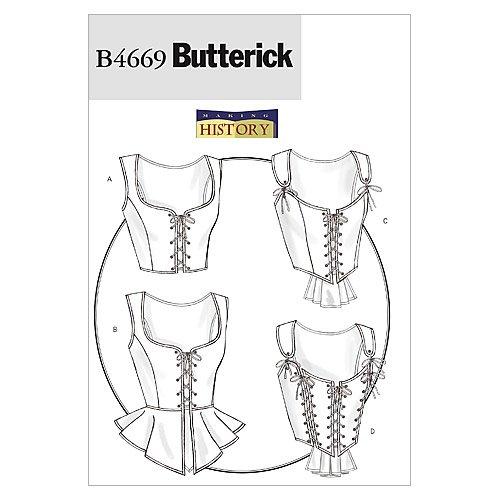 Butterick Patterns B4669 Misses' Corset, Size EE (14-16-18-20)