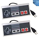 (US) EEEKit 2 Packs Classic Nintendo USB NES Controller USB Famicom Controller Joypad Gamepad,Computer Games Solution Kit for Windows PC / MAC / Raspberry Pi (Grey)