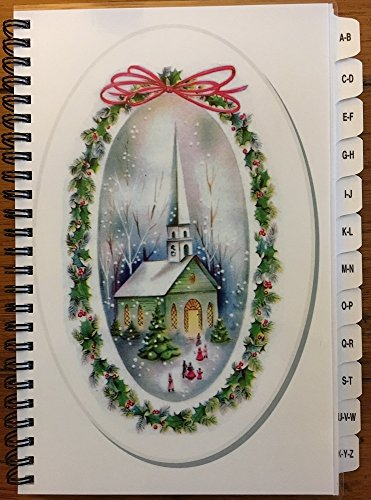 Christmas Card Address Book List Organizer with A-Z Tabs Church Personalized Gift by JDSeals