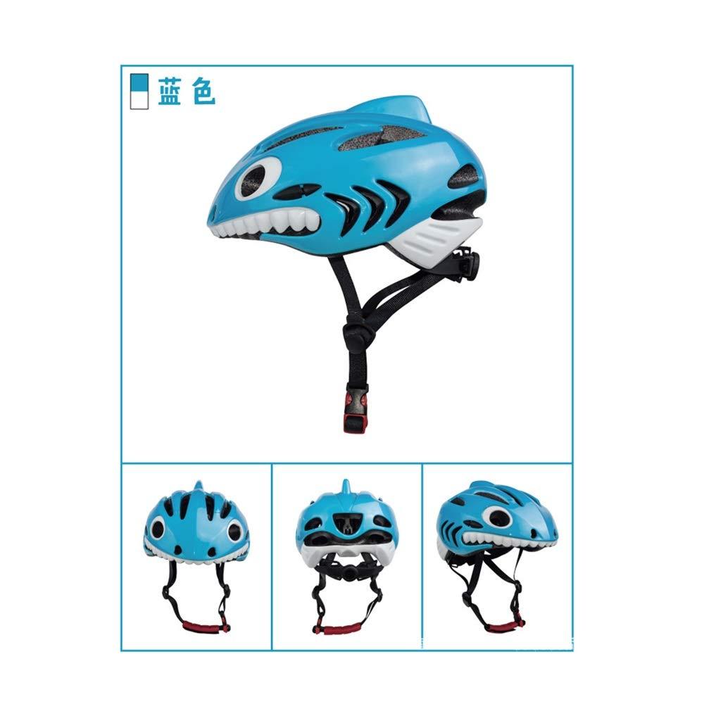 Helmet Children's Bicycle Kids Lightweight Skateboard Helmet for Children Breathable Protection Adjustable Primary schoolchild Sports Helmet (Color : Blue)