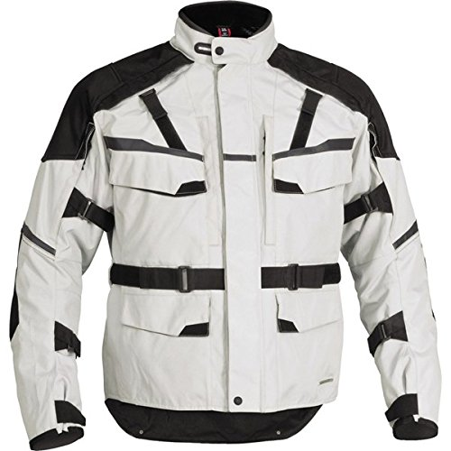 Firstgear Jaunt T2 Men's Textile Motorcycle Jacket (Silver, Medium)