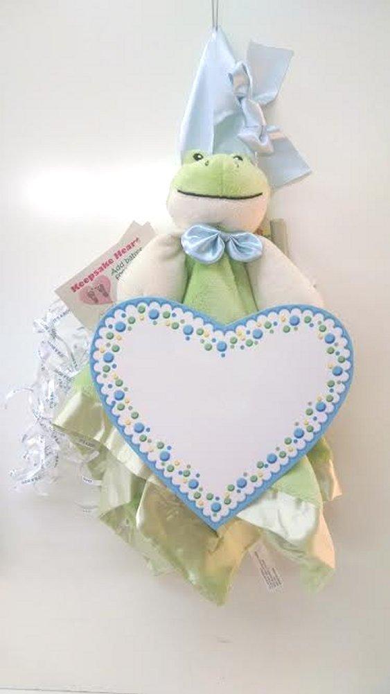 Baby Boy Frog Keepsake Birth Announcement