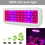 300W LED Grow Light Full Spectrum, Derlights Greenhouse Light with UV and IR, Grow Light for Indoor Plant Garden Veg and Flower