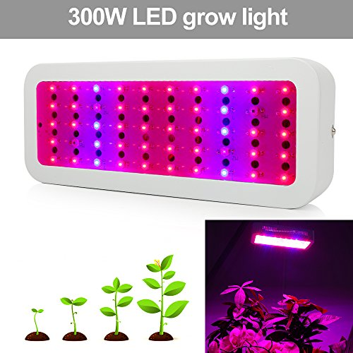 300W LED Grow Light Full Spectrum, Derlights Greenhouse Light with UV and IR, Grow Light for Indoor Plant Garden Veg and Flower by Derlights