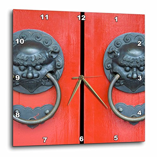 3dRose dpp_75513_1 Singapore, Chinatown, Buddha Tooth Relic Temple-AS32 CMI0057-Cindy Miller Hopkins-Wall Clock, 10 by 10-Inch