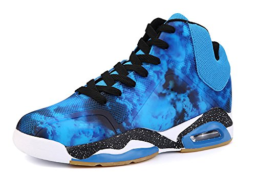 COSDN Men's Fashion Air Cushion Shock Absorption Comfortable Basketball Shoes Sports Running Tennis Casual Sneakers Size 6.5 Blue (Men Jordan Shoes Size 6)