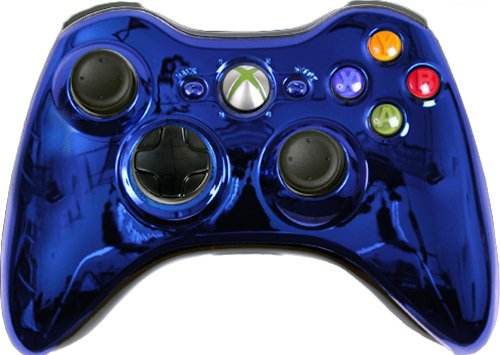 Custom Xbox 360 Controller Blue Chrome Special Edition (Call Of Duty 2 For Xbox 360 Cheats)