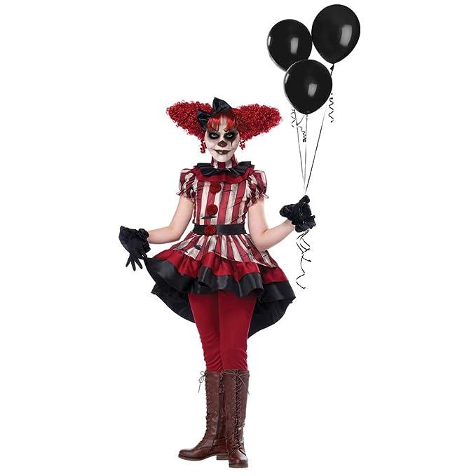 Amazon.com: Disfraz de Halloween para niñas con horror: Clothing
