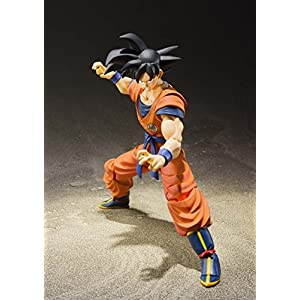 "Bandai Tamashii Nations S.H. Figuarts Son Goku (A Saiyan Raised on Earth) ""Dragon Ball Super"" Action Figure"