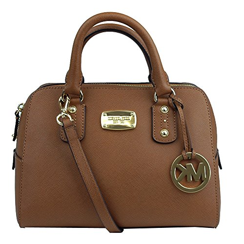 Michael Kors Small Saffiano Leather Satchel Luggage Brown
