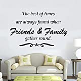 EZON-CH Modern Art Wall Decal Art Wolds The Best Of Times Are Always Found When Friens And Family Gather Round Vinyl Stickers Decoration For Your Room £¨Blue£