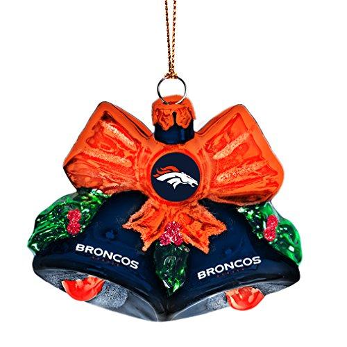 NFL Denver Broncos Glitter Bells Ornament