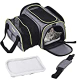 DADYPET Pet Carrier,Dog Carrier,Cat Carrier,Expandable Pet Carrier, Airline Approved Pet Carrier for Cat,Puppy Carrier 600D Material with Fleece Mat Easy Carry on Luggage with Pockets to Store Goods Review