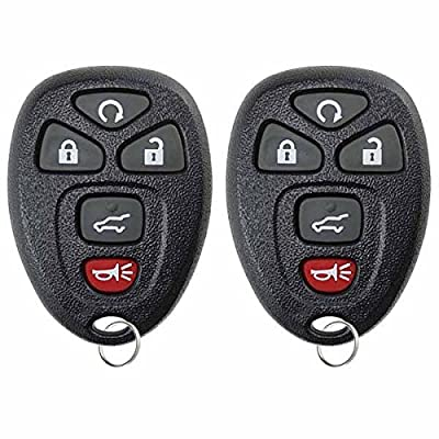 KeylessOption Keyless Entry Remote Control Car Key Fob Replacement for 15913415 (Pack of 2): Automotive