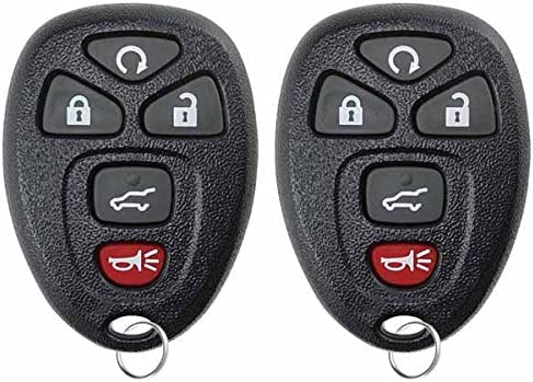 KeylessChoice Keyless Entry Remote Control Car Key Fob Replacement for 15913415 (Pack of two)