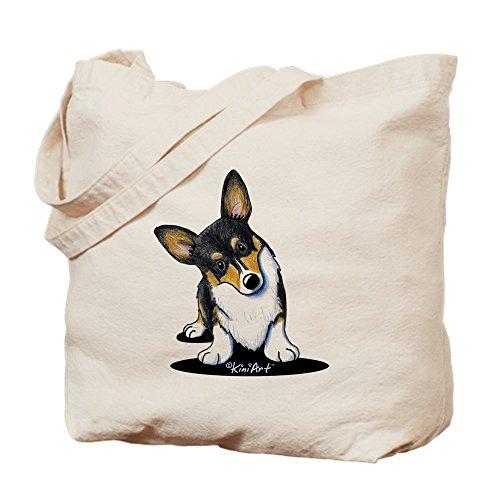 CafePress–KiniArt Tricolor Corgi–Gamuza de bolsa de lona bolsa, bolsa de la compra Small caqui