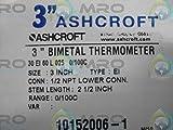 ASHCROFT 30EI60L025-0/100C BIMETAL THERMOMETER 2-1/2'' STEM NEW IN BOX