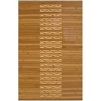 anji mountain amb00900023 bamboo kitchen and bath mat natural 24 x 36inch