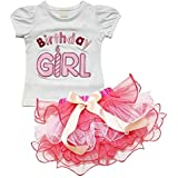 EGELEXY Hot Baby Girls Little Princess T-shirt and Petticoat Skirt 2-piece Outfit