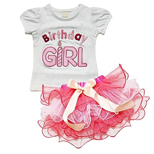 EGELEXY Baby Girls Little Princess T-Shirt and Petticoat Skirt 2-Piece Outfit