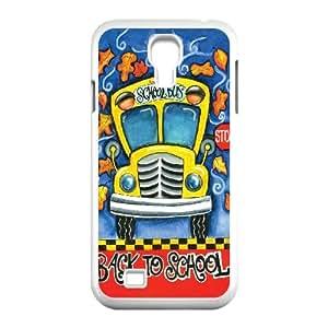 Clzpg New Design SamSung Galaxy S4 I9500 Case - School Bus diy plastic case