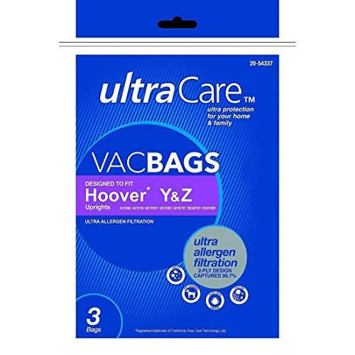 Ultracare Vac Bags Hoover Upright Ultra Allergen Y & Z (3)