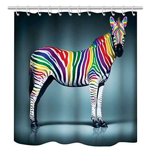Modern Design Dries Quickly Colorful Multicolored Zebra Show