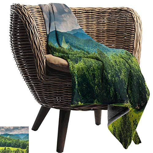 - vanfan-home Landscape Baby Blanket,View of Mountains in Potomac Highlands of West Virginia Rural Scenery Picture Super Soft Light Weight Cozy Warm Plush Hypoallergenic Blanket (60