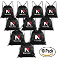 Sackpack Bags - 10 Pack Folding Drawstring Backpack Bags Sport Gym Sack Home Travel Party Favors Storage Use