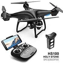 Holy Stone GPS FPV RC Drone HS100 with Camera Live Video and GPS Return Home Quadcopter with Adjustable Wide-Angle 720P HD WIFI Camera- Follow Me, Altitude Hold,Intelligent Battery, Long Control Distance