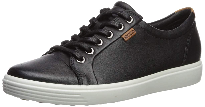 Black Black ECCO shoes Women's Soft 7 Lace Fashion Sneakers