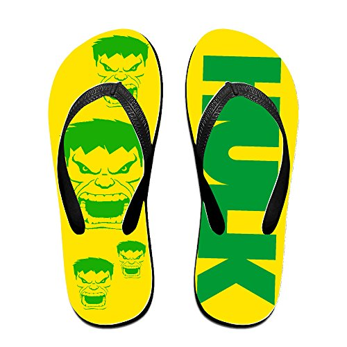 [Kakakaoo Custom Unisex-Adult Hvlk Head Logo Beach Sandals Black Size S] (Barney Costume For Baby)