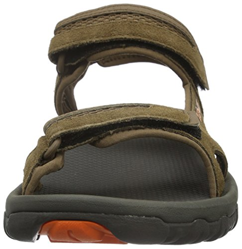 Teva Mens Hudson Sandale Marron (gris Foncé / Orange)