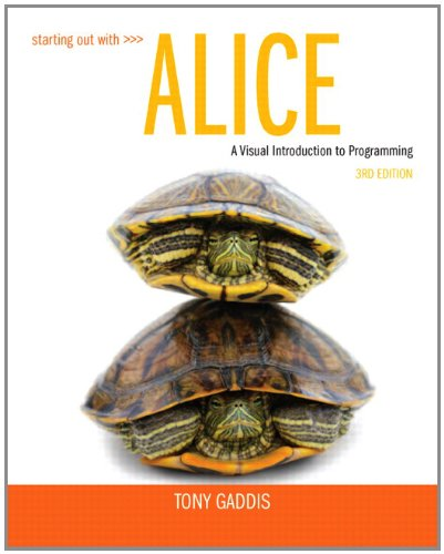 Starting Out with Alice (3rd Edition) by Pearson