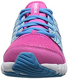 Reebok Twistform Running Shoe (Little Kid/Big Kid), Charged Pink/California Blue/Cool Breeze, 1 M US Little Kid