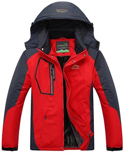 de Libre Excursionismo de Hombre Rojo de Deporte Capa Nieve Impermeable Sawadikaa Esquí Chaqueta Chubasqueros Chaqueta Aire Lana Al Ropa a0Hwq4