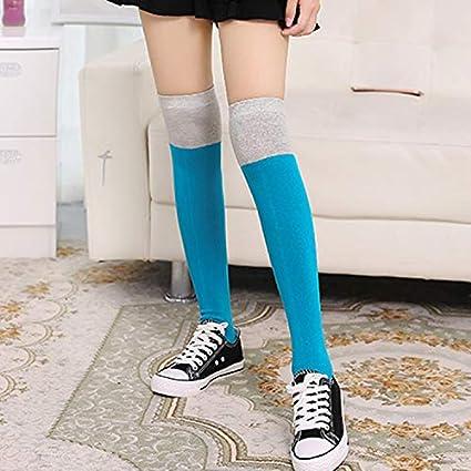Andre Home Primavera y Verano japoneses Sobre los Calcetines hasta la Rodilla algodón Femenino Tubo Largo