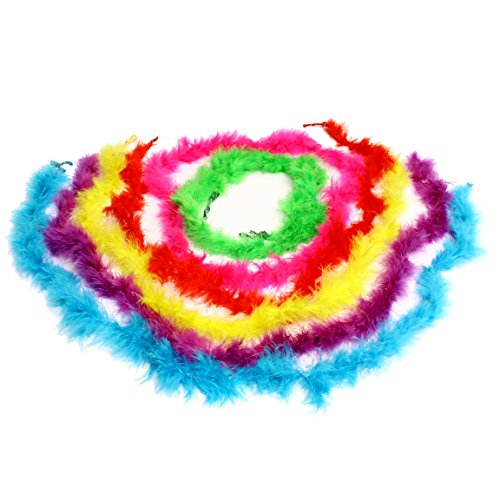 Boas | Dazzling Toys Mini Maraboou Feather Boas Halloween Costume Dress up Party 12 Pack (Rock Star Halloween Costume Ideas For Kids)