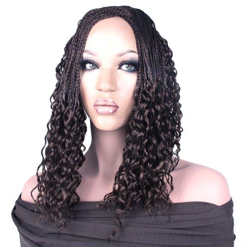 Rastafri Hand Tied Water Wave Microbraid Hair Extensions (M1B/30 Black/Light Auburn Mix) -