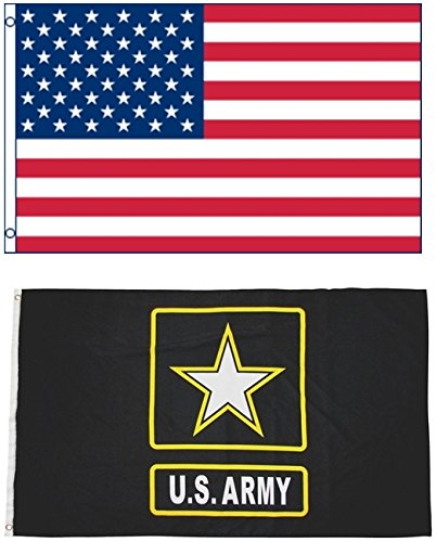 Mission Flags 3x5 ft. US American and US Army Polyester Flag