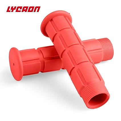 Puños de manillar de bicicleta LYCAON, caucho TPR suave (126 mm), agarre de bicicleta para el crucero de patinete Bicicleta de estilo urbano triciclo ...