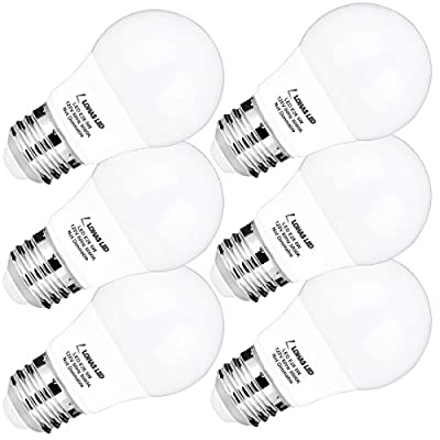 A15 LED Bulb, LOHAS LED Light Bulbs 40W Equivalent(5w LEDs), Daylight(5000K), Medium Base(E26), 450lm Bright LED Lights, Not Dimmable, LED Lamps for Refrigerator/Freezer Ceiling Home Lighting(6Pack)