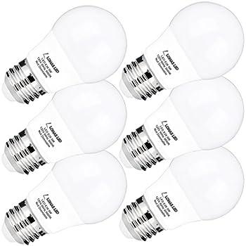 A15 LED Bulb, LOHAS A15 LED Light Bulbs 40W Equivalent(5W LED), Daylight(5000K), Medium Base(E26), 450lm Bright LED Lights, LED Lamps for Refrigerator/Freezer Ceiling Home Lighting, Not-Dim(6Pack)