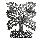 Metal Tree of Life with 3-D Birds, Joyful Home Decor, Recycled Wall Art, Handmade in Haiti, 14″ x 17″ Review