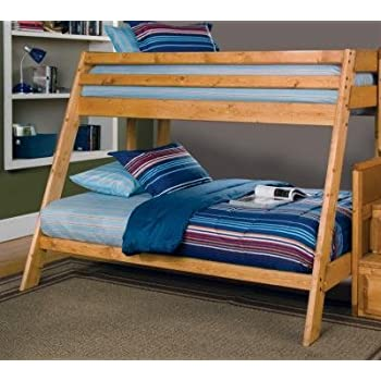 this item wrangle hill twin over full bunk bed